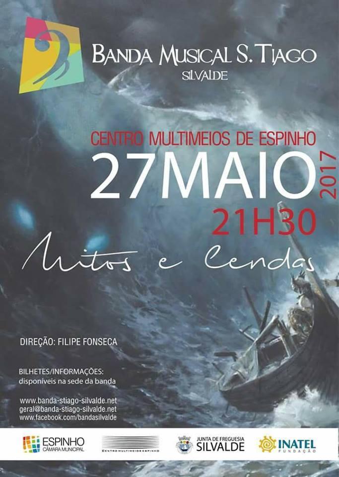 Cartaz Concerto Banda Musical S. Tiago de Silvalde